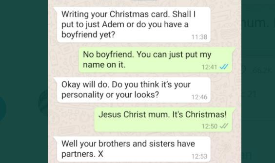 這一定撿來的!媽寫聖誕卡「一句靈魂質問」 魯男中槍苦笑:有必要這樣?
