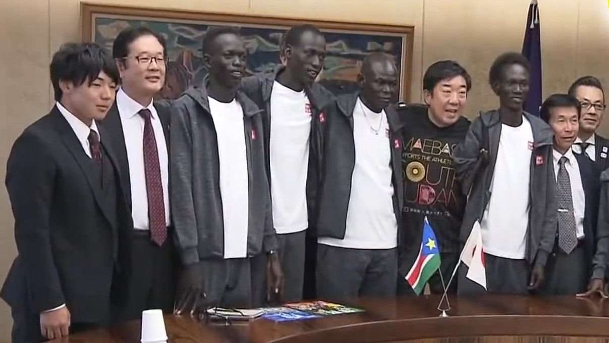 ▲▼南蘇丹奧運選手滯留日本一年半。(圖/翻攝自Facebook/前橋市)