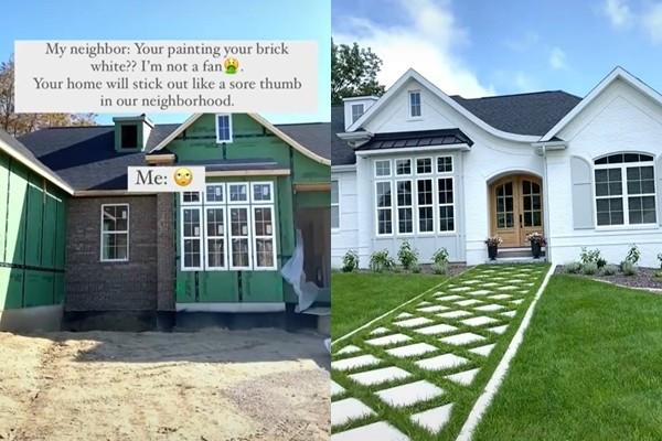 老舊磚牆粉刷→清爽度假風 卻被鄰居整天酸「有夠醜」 屋主怒:是有出錢嗎