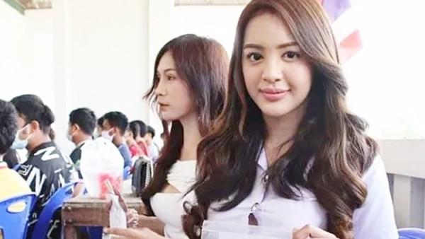 泰國兵種抽籤日「坐一排正妹」!長捲髮大眼妹被叫號起身 美到全場都戀愛了