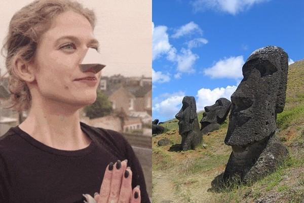 設計公司推「鼻罩」過濾你的呼吸! 戴起來撞臉摩艾石像
