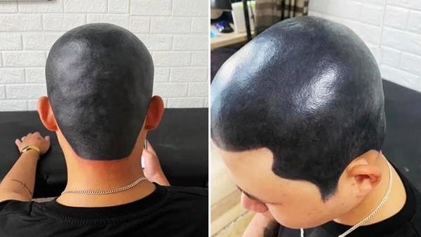 人夫好想剃光頭!瞞著老婆「把頭皮紋成全黑」一進家門妻笑到噴飯