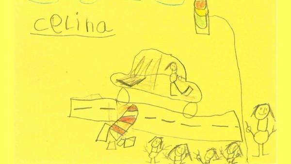 2張塗鴉助警抓肇逃犯!6歲童舉發金髮三寶 「案發現場素描」被警大讚