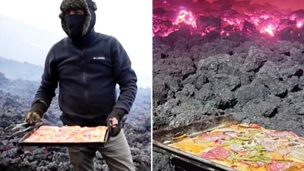 在火山上開披薩店!男用岩漿烤餅皮賣給登山客 透露賺錢祕訣:省瓦斯