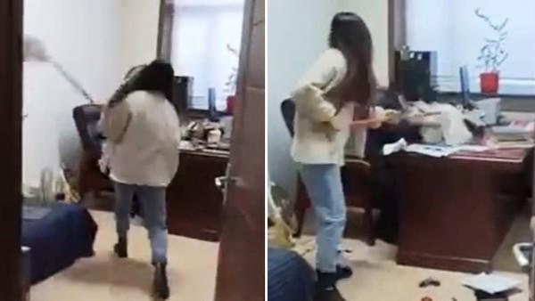 拿拖把「狂巴主管的頭」!女職員受夠性騷擾 15分鐘痛毆影片獲讚:最強報復