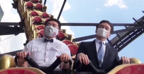 日遊樂園呼籲「搭雲霄飛車不尖叫」 2名社長親示範「叫聲留心裡」網笑翻:社長很拼XD