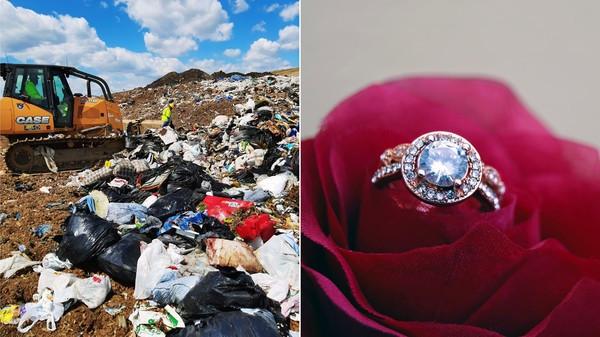 15年婚戒放錢包一起丟掉! 她急找垃圾掩埋場「工人花1.5hrs找回」