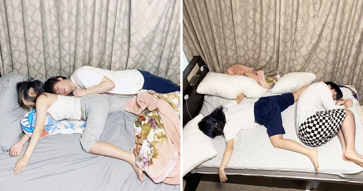 夾縫中求生存!男網友曬「同居後女友豪邁睡姿」 早上醒來:委屈得像隻蝦子