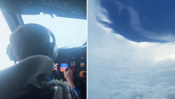 飛機「開進颶風眼」實況轉播!駕駛艙上下狂震30秒 機師爆筋緊握操縱桿