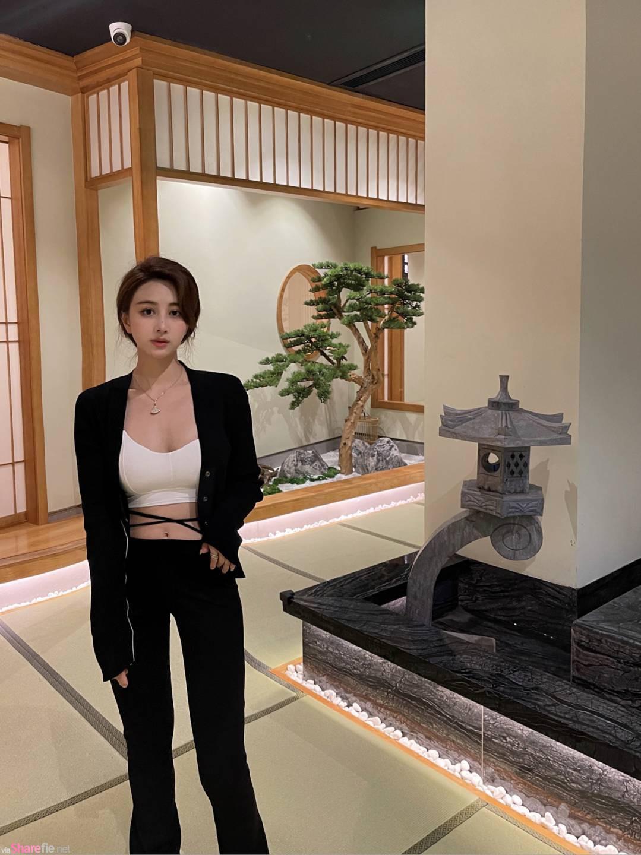 正妹到日本料理店打卡,側身美拍超誘人