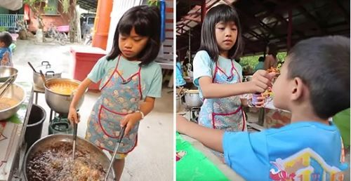父母離異不養!9歲小妹賣炸雞「撐起一個家」 照顧爺奶、年幼弟不願喊苦