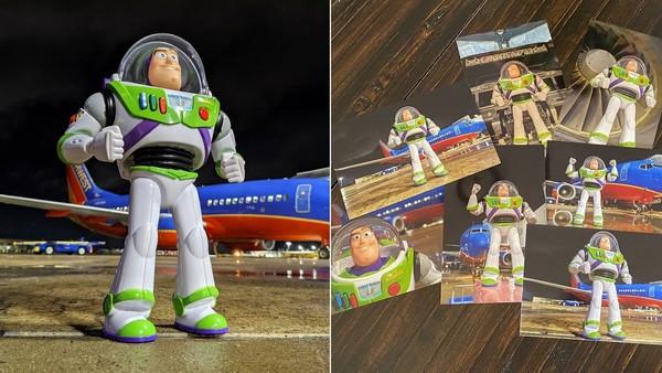 沒飛向宇宙!巴斯光年「慘留機場」男孩哭了 地勤找到對腳底記號:主人想你