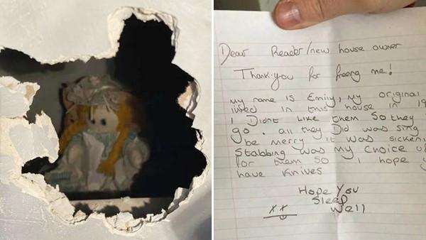 32歲男入住中古別墅「鑿牆挖出洋娃娃」!它手中緊握恐嚇紙條:我殺了前屋主