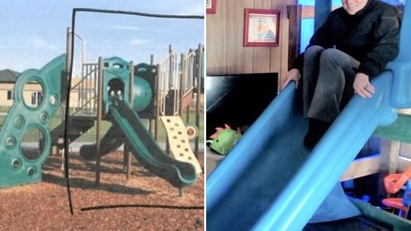 窮父「扛走公園溜滑梯」裝在兒子房間!警納悶狂問:怎麼搬的啦