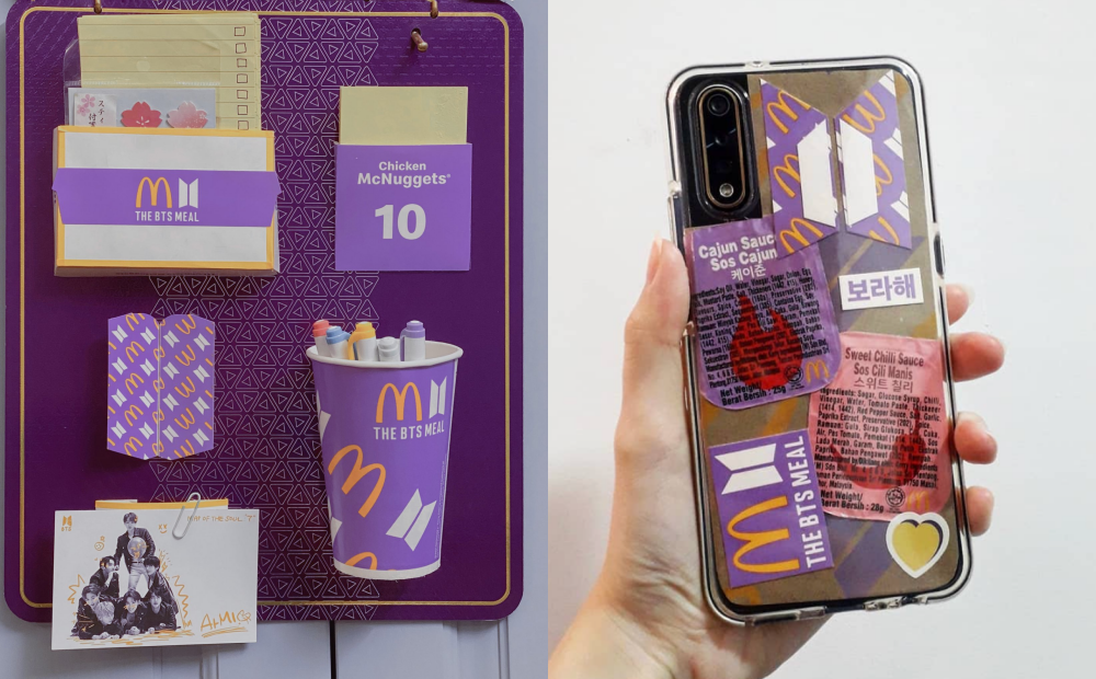 麥當勞「BTS套餐」紫色包裝秒變新潮小物!6招免花錢改造手機殼、文具架