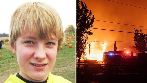撞見野火燒焦全身「認不出是愛妻」!13歲兒困車裡 抱愛犬被燒死