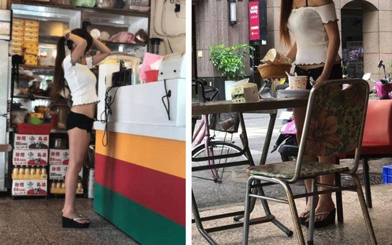 馬尾老闆娘賣弄螞蟻腰,客人吃早餐「銷魂」...一看驚呆:早餐484吃太好!