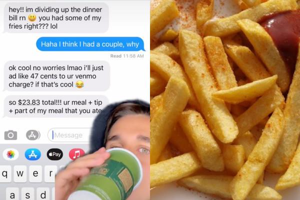 朋友問「要吃薯條嗎?」 英男吃三根被收13元他氣炸:做人這麼小氣?
