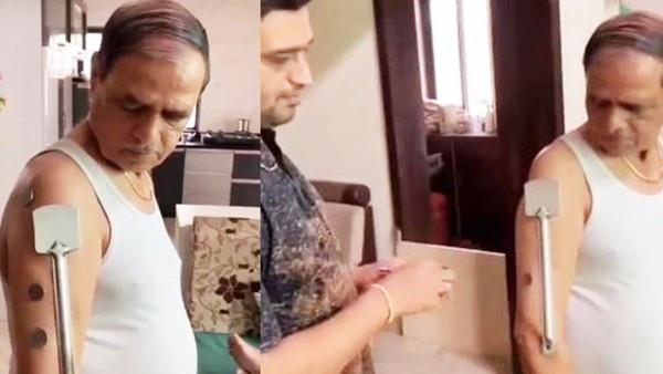 打了疫苗變「萬磁王」!印度阿北接種後狂黏金屬物 全村跑去他家看奇景