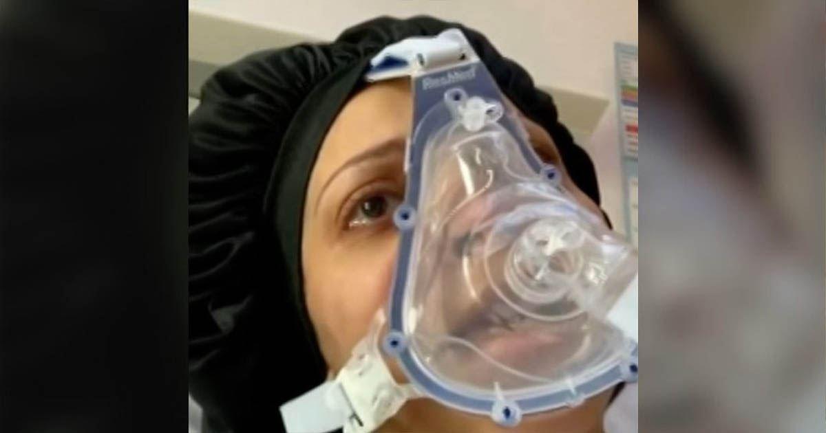 要自主呼吸都很困難! 懷孕護理師確診新冠 她躺在床上沈重呼籲:拜託待在家裡!