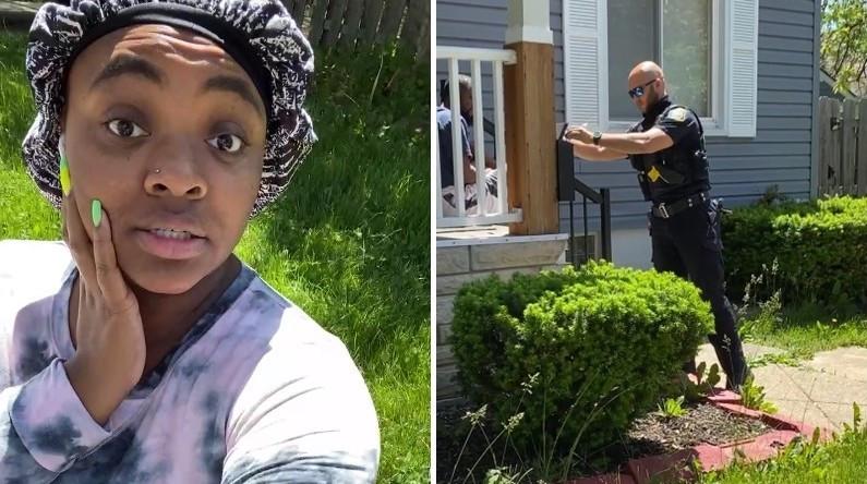 ▲▼黑人女子在路上講電話太大聲,遭鄰居報警開罰1.1萬元。(圖/翻攝自Facebook/Diamond Robinson)