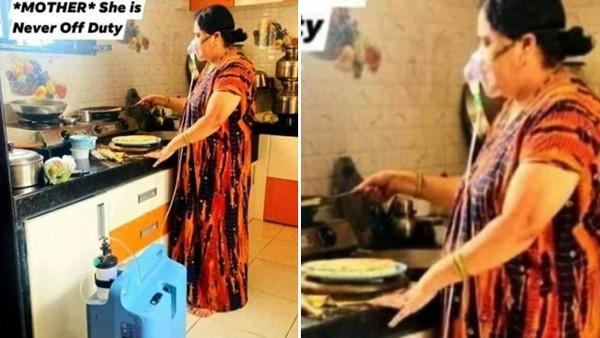 曬母「戴氧氣罩煮飯」直呼媽媽好愛我!印男挨轟:媽寶界的王者
