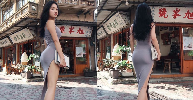 空姐回台南挺出「銷魂線」,老鄉觀光客大嘆視覺超衝擊!