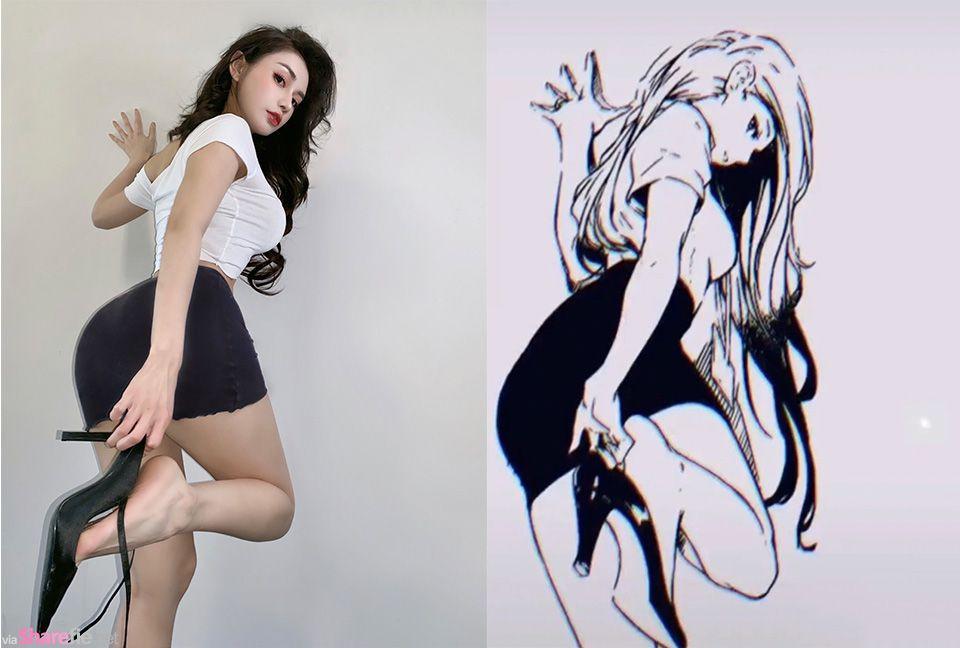 正妹神還原漫畫身材,網友:你比漫畫還漫畫啊