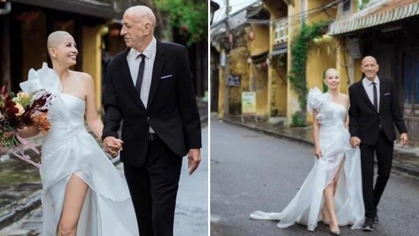 「少妻剃光最愛的長髮」拍婚紗!不捨大20歲老公罹癌:婚姻就要同甘共苦