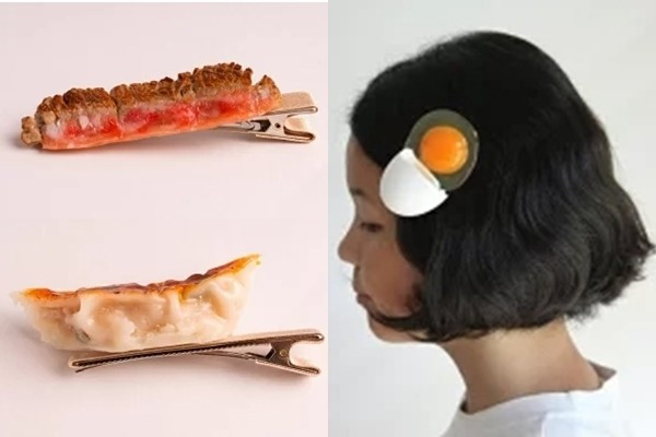 不要玩食物咦?日推「超擬真髮夾」 雞翅煎餃放頭上狂問:我可口嗎