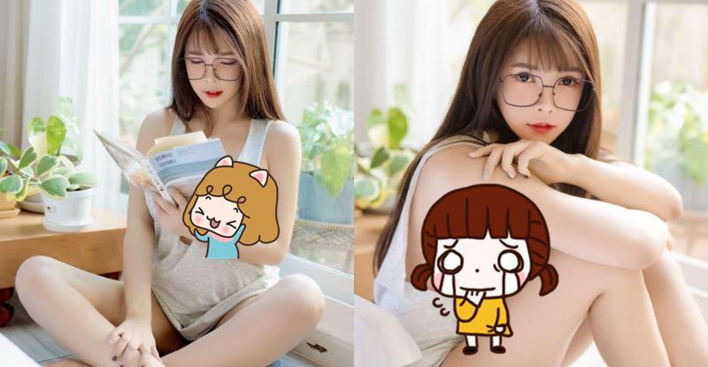 眼鏡正妹【Thanchanok】認真讀書,渾身白皙有致的美體,有著逆天的銷魂曲線