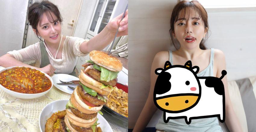 爆紅「正妹大胃王」一個月吃掉30萬 看樣子營養都吃到前面去了...