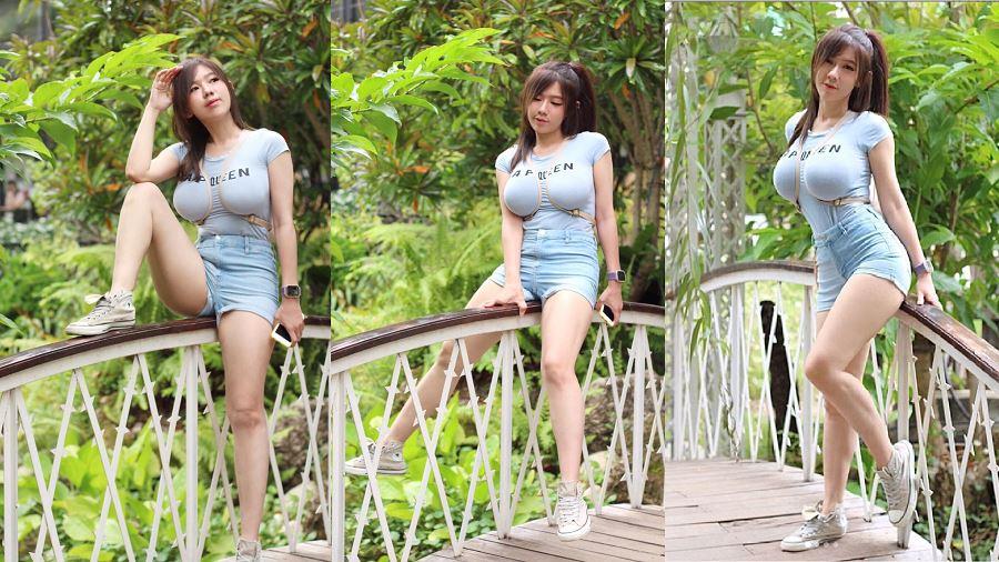泰國正妹Mika示範後背包的最新揹法