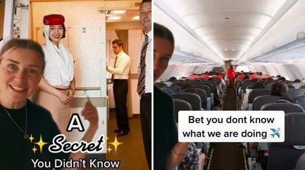 抖音空姐揭登機「整排迎接秘密」 知真相鄉民傻了:難怪都一直看我
