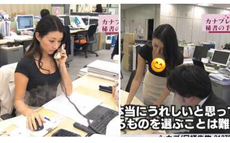 新來的秘書有挑過!顏值高又精明,每天上班桌子都浮浮的...下秒驚:好犯規啊