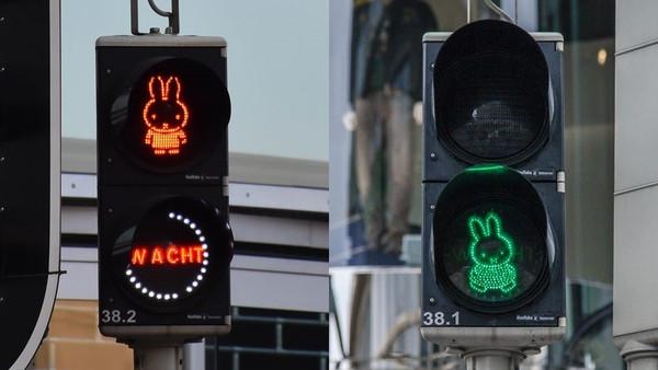 萌萌的動了!荷蘭街頭設「米菲兔紅綠燈」 搭彩虹斑馬線滿滿少女心