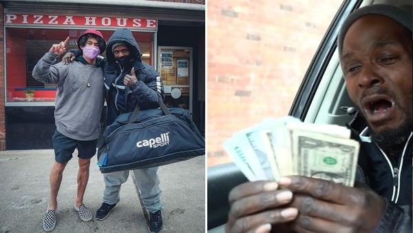 零下14度還在擦車窗「日賺400」 網紅不忍替街友拍片 募40萬送他一個家