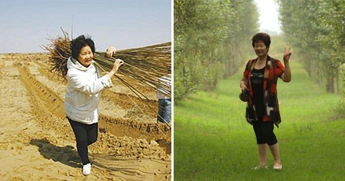 為完成兒子遺願「在沙漠中種下200萬棵樹」! 大地媽媽變賣財產數十年「栽出一整片森林」