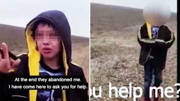 無名男童被人蛇集團丟包邊境!呆站荒漠痛哭 巡警嘆:真的好險有遇到他