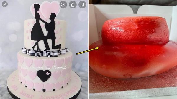 網購奶油蛋糕「收到塌陷草莓甜甜圈」 要求退款店家嗆:只收材料費有何錯